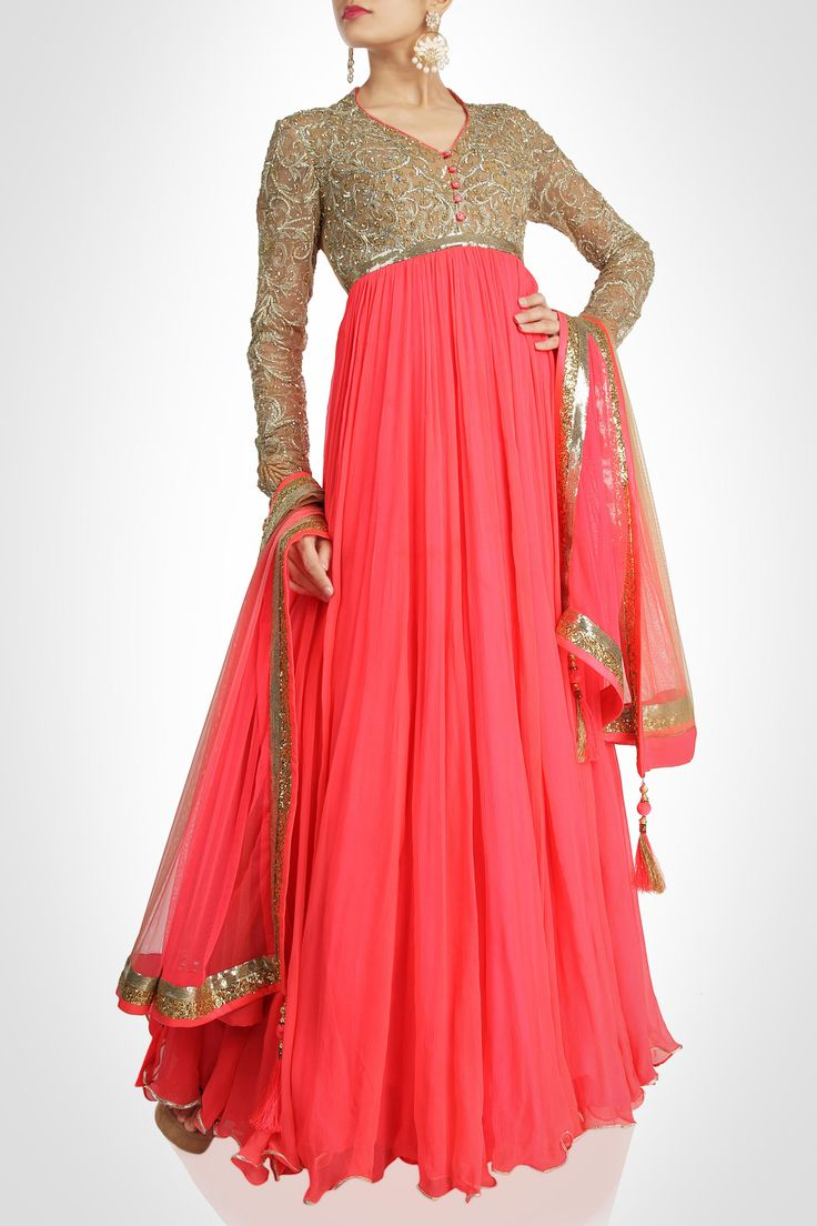 Pam Mehta collection   Anarkali A perfect piece for plus size woman