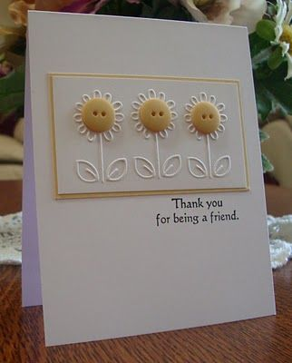 cute way to use this small embossing folder; repeat single flower as often as you want Cuttlebug from Amazon