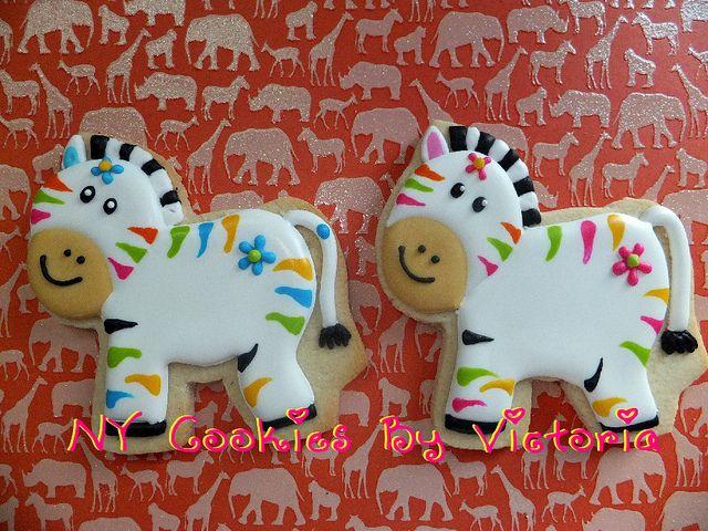 Zebra Cookies by NYCookiesByVictoria, via Flickr