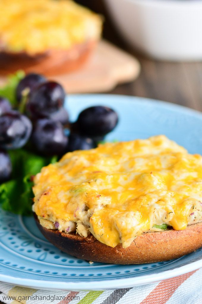 Make Bagel Tuna Melts for a warm, toasty, and cheesy lunch!