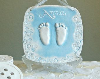 Children's Handprint Ornament with Photo by TheBabyHandprintCo