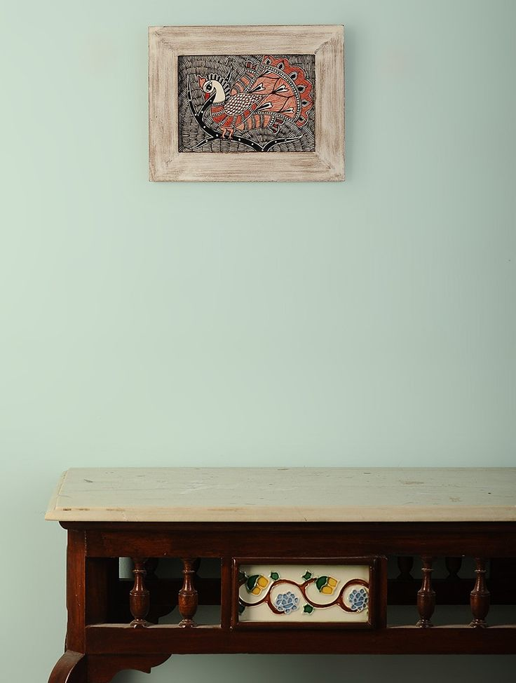 Buy Black Red Peacock Hand Painted Madhubani Wall Art Framed in Wood MDF Home Decor Accents Online at Jaypore.com