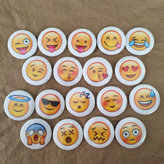 Emoji buttons by HypotheticalButtonCo on Etsy