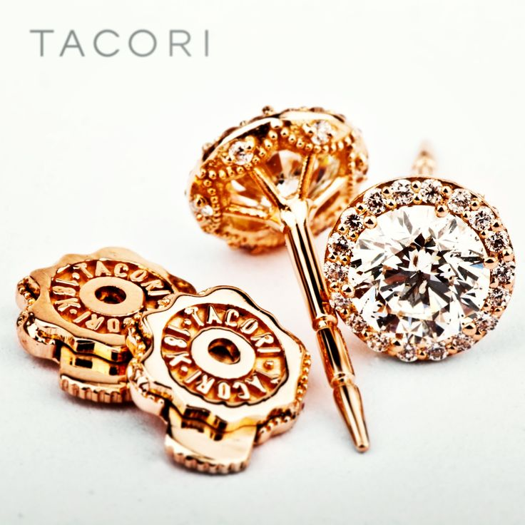 Stand-out stud earrings in rose gold. #Tacori diamond earrings
