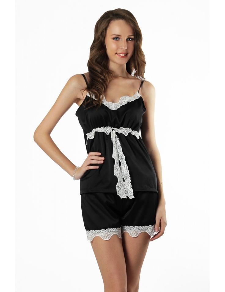 Zega Store - Pijamale Mushroom, culoarea neagra - Femei, Pijamale
