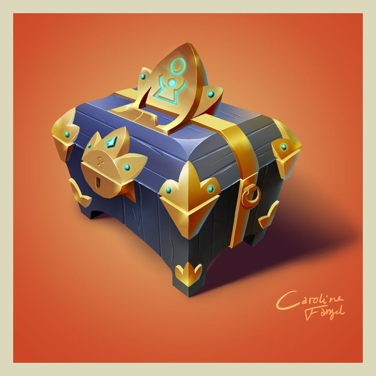 #2D #gameart treasure chest #photoshop #drawings