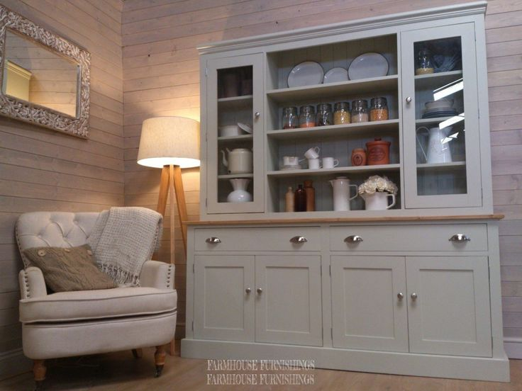Hand Made Solid Pine Painted Welsh Dresser | Farmhouse Furnishings