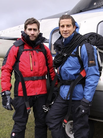 Man vs. Wild. Bear Grylls and Jake Gyllenhaal. Great episode :)... love this show.