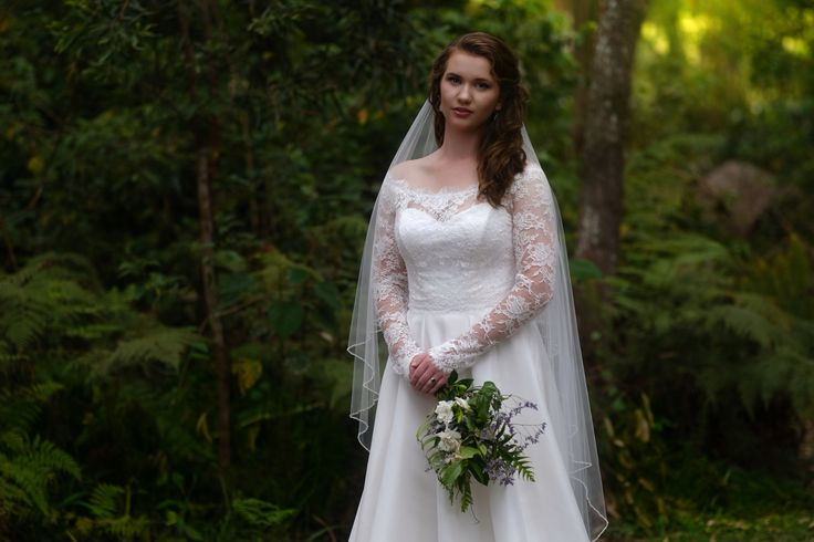 Long sleeve French lace Bridal gown from the 2017 Bridal collection Melanie Jayne. French lace and silk two piece wedding gown stunning, made in Australia by Melanie Jayne