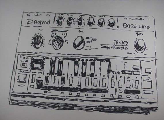 illustration Roland TB-303 A piece of art for real von Kleckerlabor