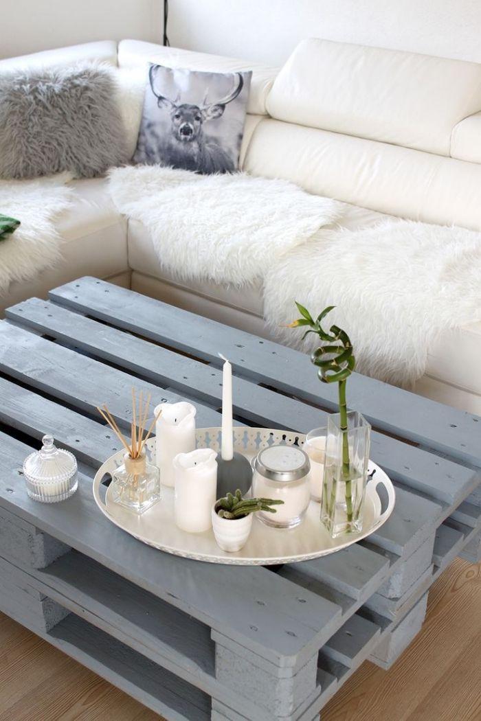 1001 Idées Brico Pour Réaliser Une Table Basse En Palette Diy