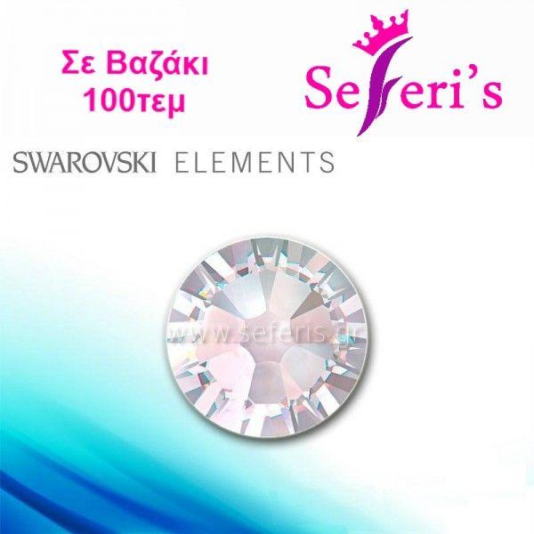 Swarovski SS3-SS5-SS6-SS8-SS10 (100τεμ) (2mm) No Hot Fix Crystals -  AB / ιριδίζον  Strass Swarovski για τα νύχια, διατηρούν τη λάμψη τους ακόμα και αφού περαστεί Top Coat σε μοναδικες τιμες