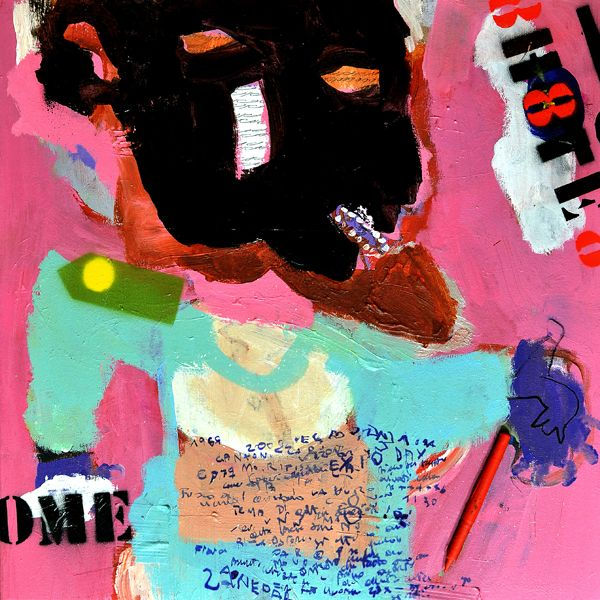 """lo scambio"" mixed media on canvas 50x50cm | 2015"