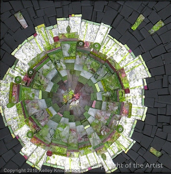 Solar Seasons: Spring  by Kelley Knickerbocker  Maplestone Gallery   Contemporary Mosaic Art
