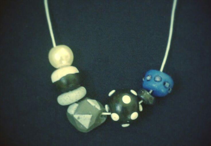 Rainbow necklace 3 FIMO (I)