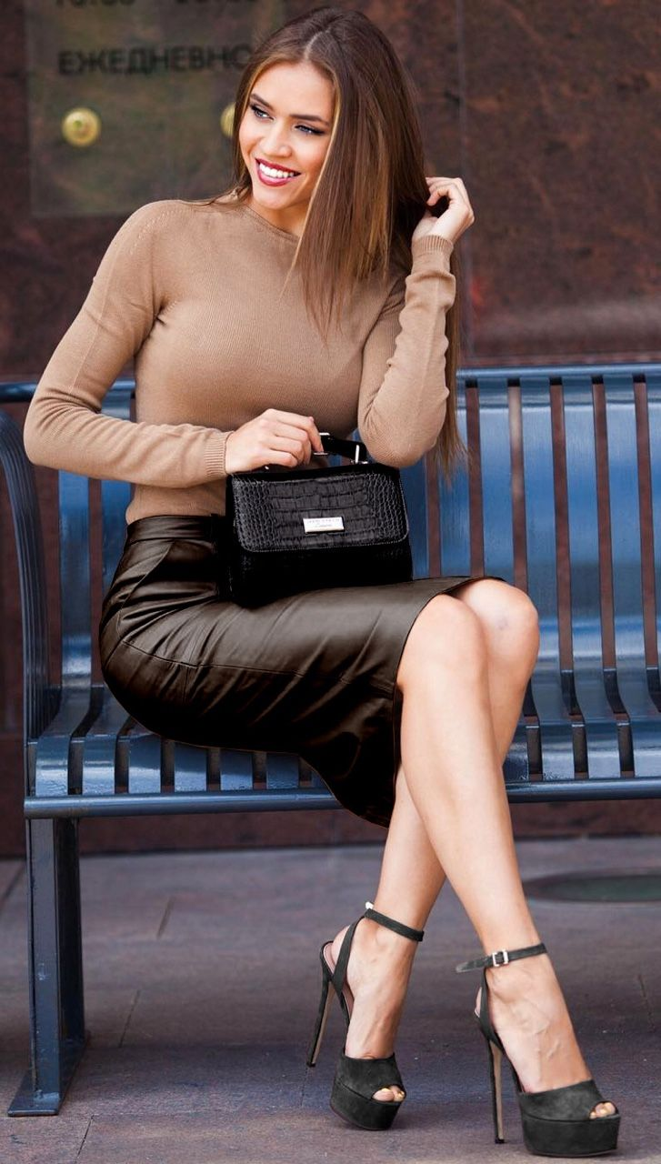 "notonmyclothes: ""Love those suede heels, and the colour of that outfit """