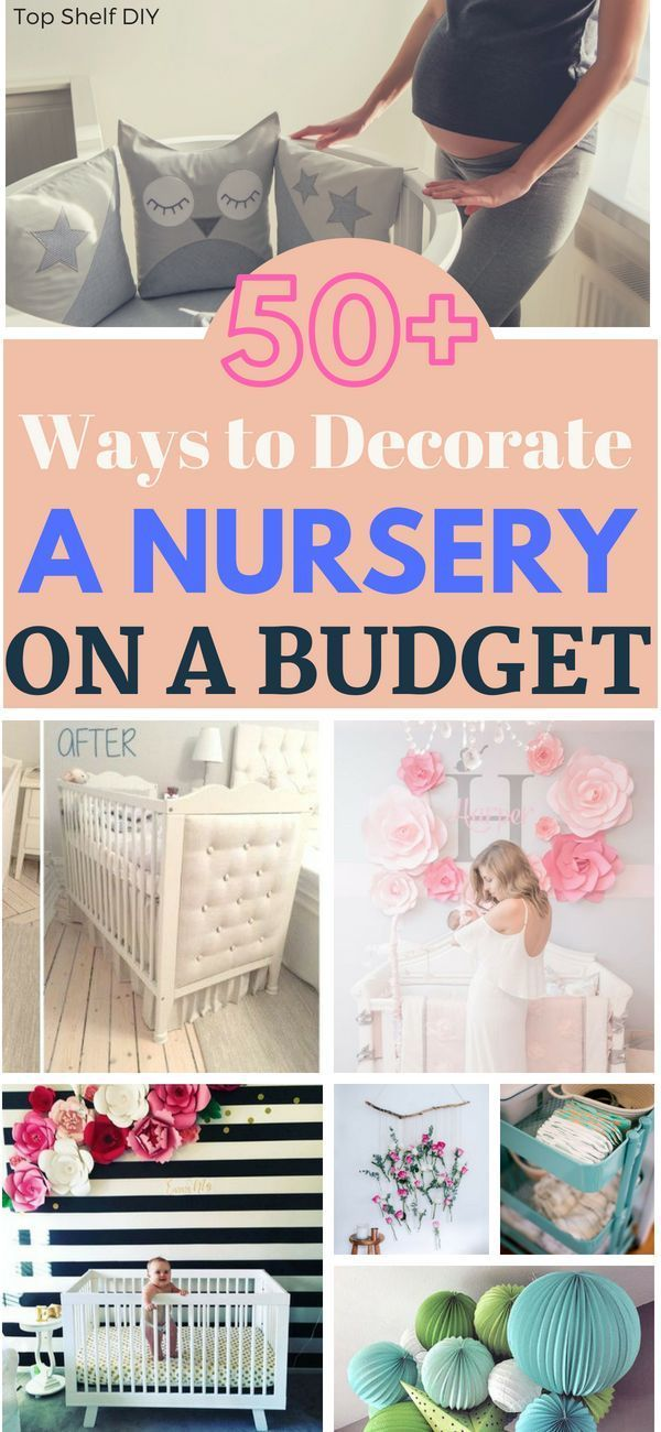 the ultimate list 50 ways to decorate a nursery on a budget rh pinterest com
