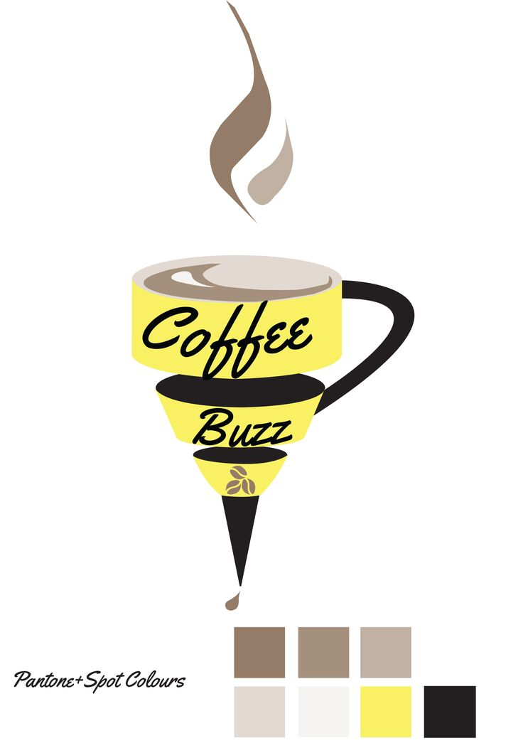 Coffee Buzz Logo in Pantone and Spot colours