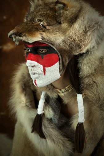 Native American Headdresses by Tribe | Native American Wolf Headdress