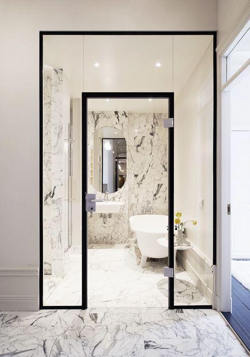 Bathroom Bliss. Walk-in shower by Jordens Arkitekter / stermalm, Private Home.