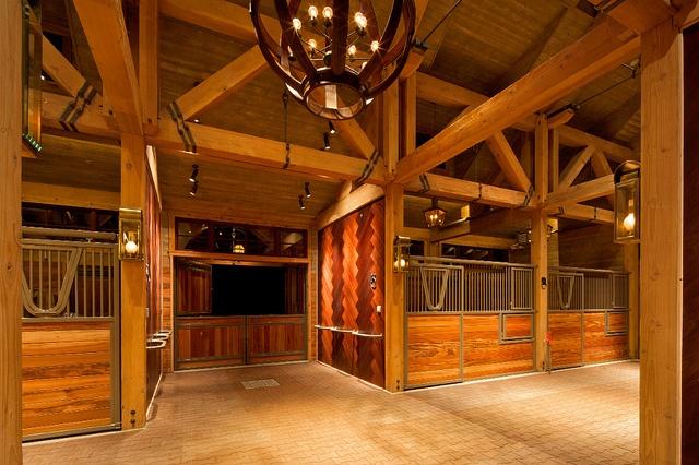 Heavy timber interior