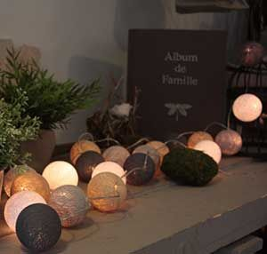 25 best ideas about guirlande boule coton on pinterest - Deco avec guirlande lumineuse ...