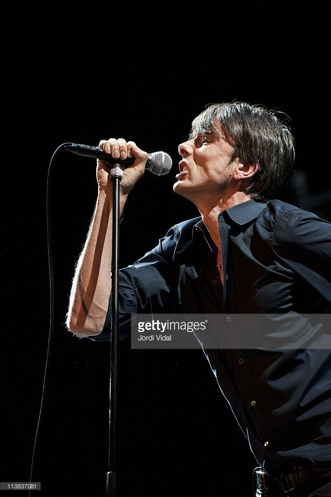 Brett Anderson of Suede performs on stage during day two of Festival Estrella Levante SOS 4.8 on May 7, 2011 in Murcia, Spain.