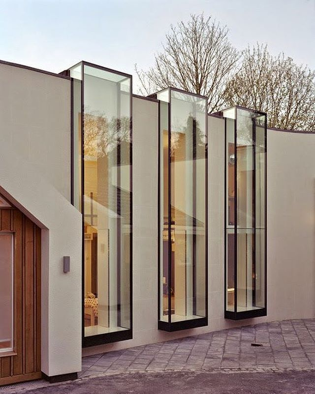 Large double glazed windows .. Linkside Residence by Coupdeville Architects