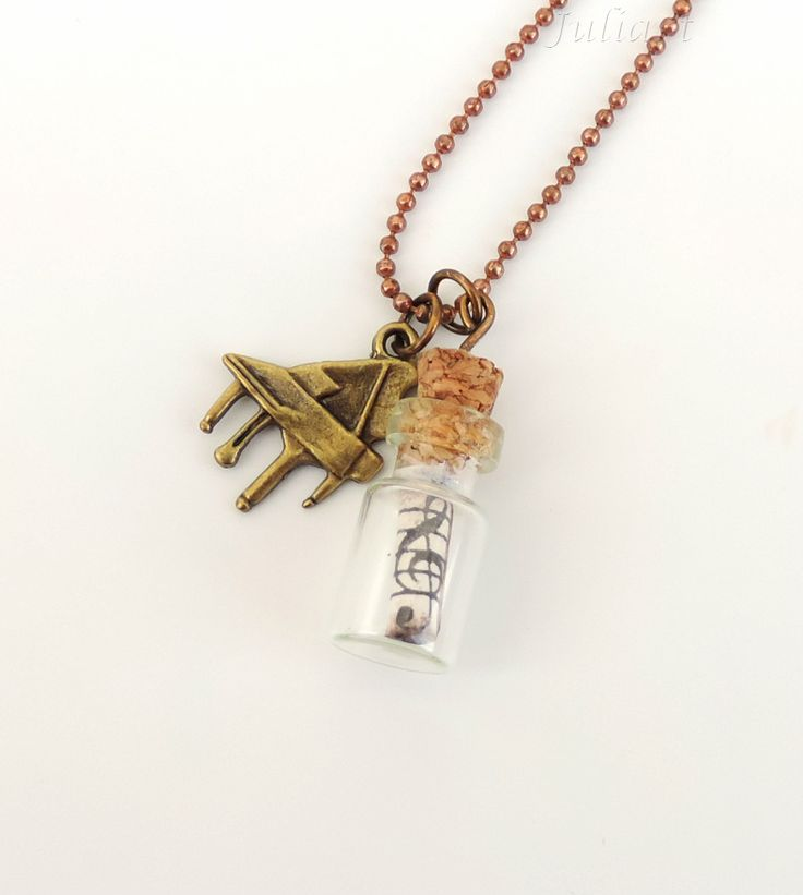 Juliart: collar con piano y partitura en un bote de cristal / Juliart: necklace with a piano and a tiny sheet music in a jar