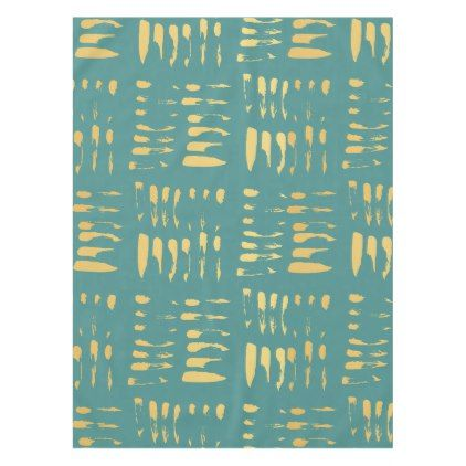 Stylish glam gold abstract pattern teal tablecloth - glam gifts unique diy special glamour