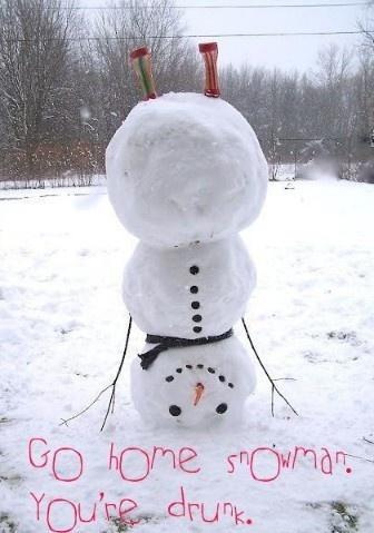 Go home snowman. U r drunk. <3