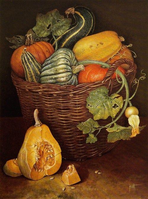 JOSE ESCOFET Still Life with Gourds (1930)