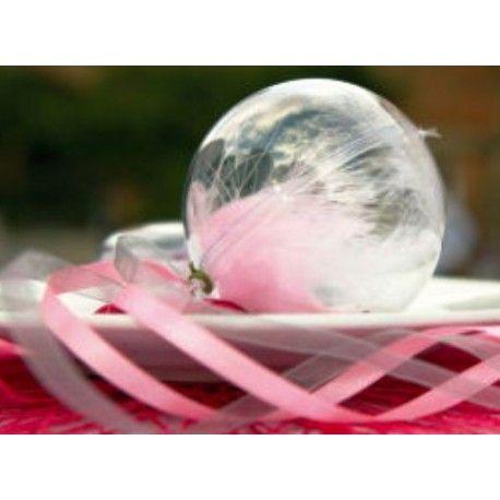 boule transparente 5 cm boule plexi a dragees