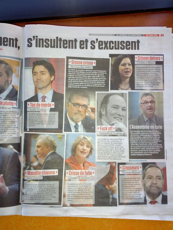 Politicians swearing in French, Québec-style