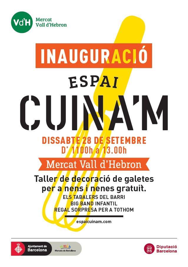 Aquest dissabte s'inaugura l'Espai Cuina'm al Mercat de la Vall d'Hebron http://somdemercat.cat/ca/node/1323