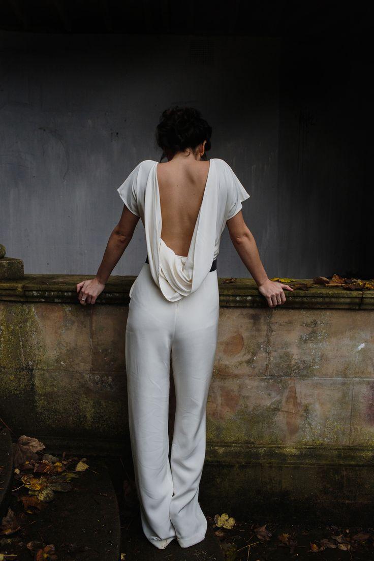 Love this look as not every bride wants a dress.  #weddinggown #weddinginspo #bride #bridetobe #weddings #weddingideas #bespokeweddingdress #dressmaker #dressmakers #miltonkeynes #buckinghamshire #bedfordshire #oxfordshire #northants #uk #lesleycutler #lesleycutlerbridal #MyBestMe  #weddingdress  #trousersbride #bohemianbride #jumpsuitbride