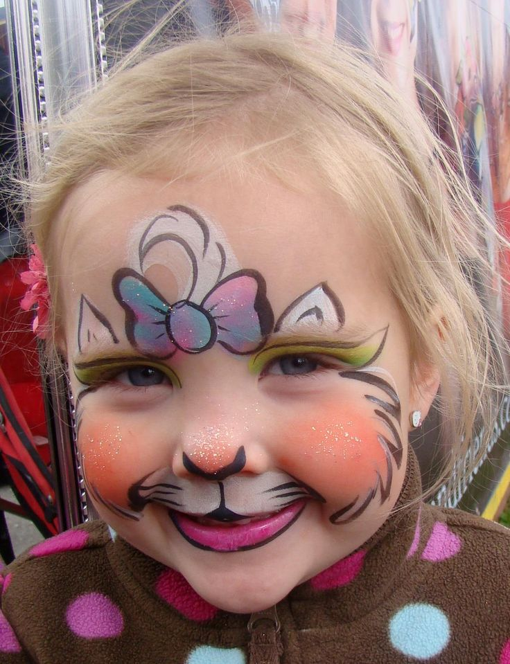 Kitty Cat face painting design by Marcela Murad