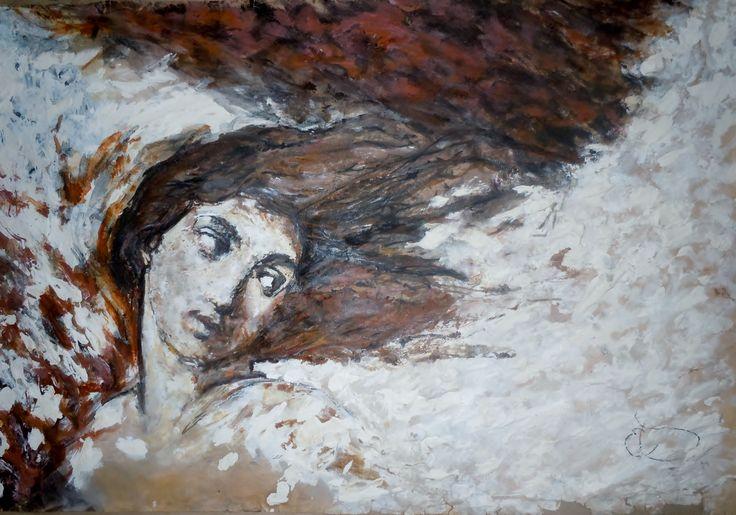 Boceto versión ''Estio'' 90 x 70 cm Oleo sobre papel 2011