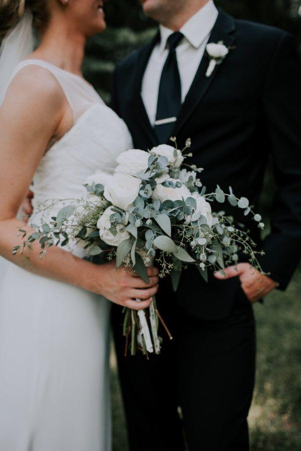 White Peony Garden Rose Ranunculus Bridal Bouquet | Toledo Wedding Florist | Bartz Viviano Flowers