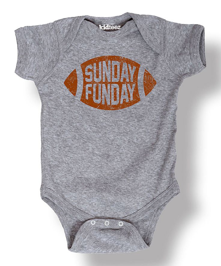Look at this Athletic Heather 'Sunday Funday' Football Bodysuit - Infant on #zulily today!