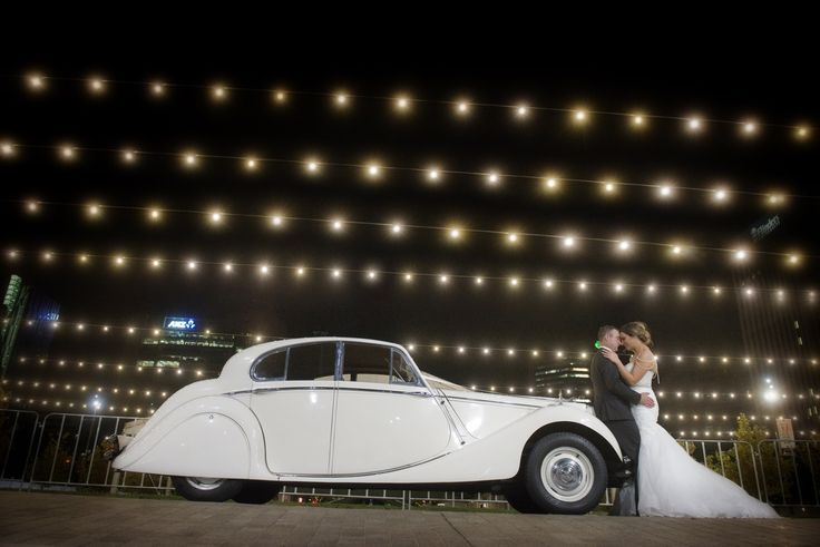 Classic MKV night shot #weddingcars #classicjags #weddingcarsadelaide