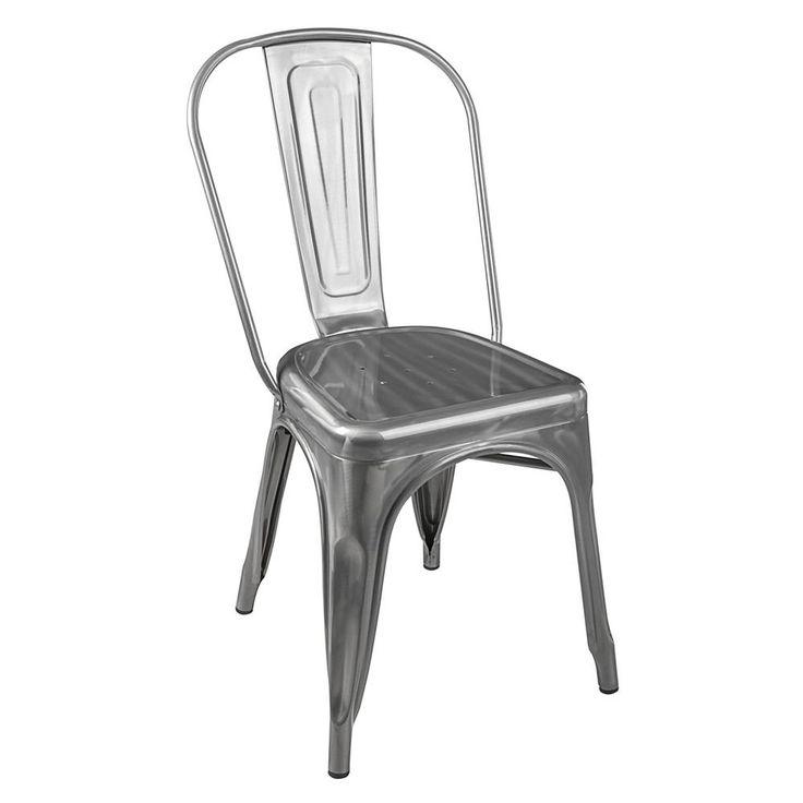 Cadeira Tolix Natural Aço Carbono - Walmart.com