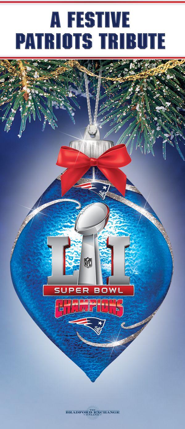 Bradford christmas ornaments - New England Patriots Super Bowl Ornament Collection