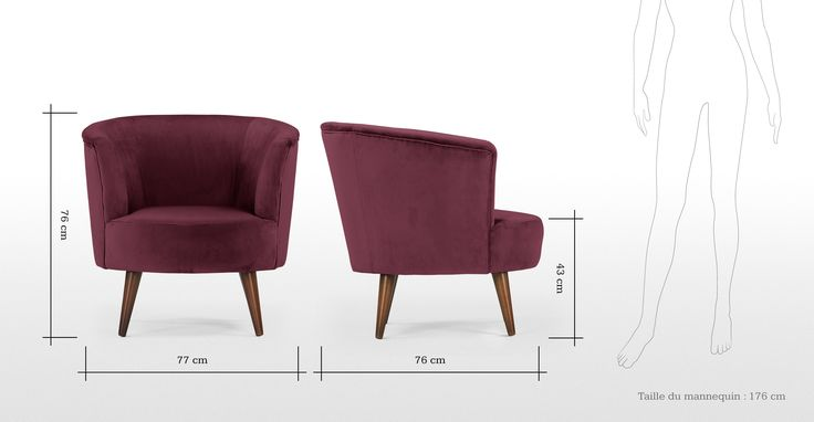 Lulu ronde stoel in Brugs bordeauxrood | made.com