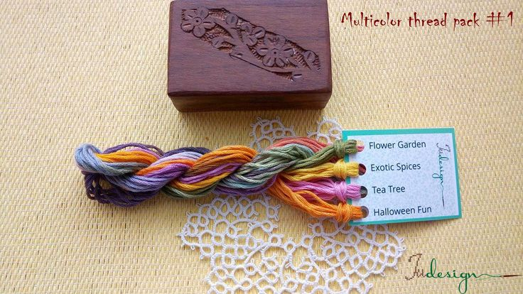 Hand painted matt cotton floss package #1 hand dyed thread for embroidery, cross stitch, punto cruz, point de croix, blackwork by xJudesign on Etsy