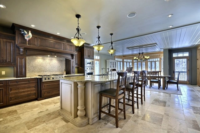 Chef's Kitchen with Viking Stainless Steel Appliances