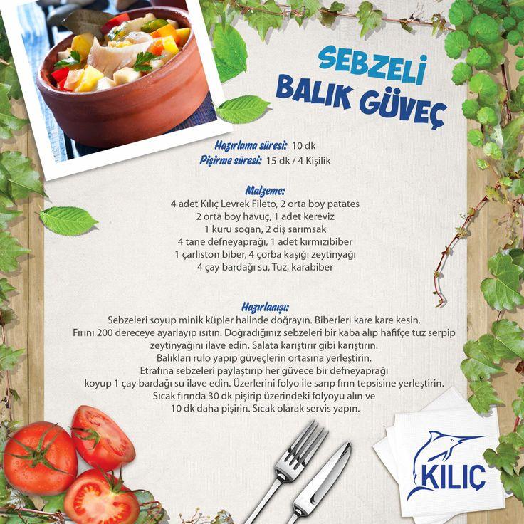 Sebzeli Balık Güveç #KilicDeniz #yemek #tarif