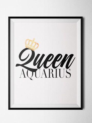 Aquarius King/Queen Print
