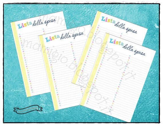 """Refill """"lista della spesa"""", tema arcobaleno  #refill #planner #filofax"""