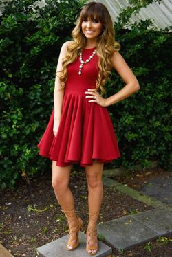 Share to save 10% on  your order instantly!  Cocktail In Hand Dress: Crimson